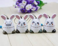 FREE SHIPPING!!!Ceramic crafts, The rabbit aeolian bells, hanged adorn,many  expression