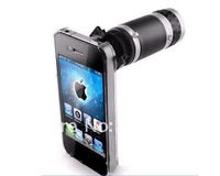 Free Shipping 10pcs/lot 6x Optical Zoom Lens Camera Telescope for iPhone 4 4G 4S Magnification Magnifier