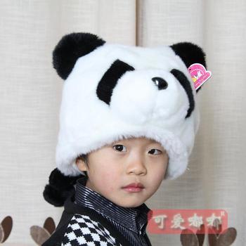 Plush toy hat giant panda hat cartoon animal hat birthday gift
