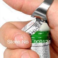 50pcs/lot  Finger Ring Beer Bottle Opener Stainless Steel Beer Opener Free Shipping