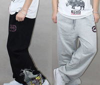 12.2 Sale cool cotton GRAFFITI NWT 2013 Brand designer sport pants trousers Hiphop dance sweatpants men M-XXL black/grey urban