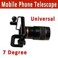 Free Shipping 8x Zoom Optical Lens Mobile Phone Telescope Camera for Universal Phone lens+holder