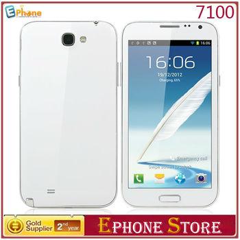 En stock! 40% de descuento! Flying 7100 ( N7100 ) de 5.5 pulgadas MTK6577 Android 4.1 Dual tarjetas SIM 3 G GPS WIFI teléfono inteligente envío gratis