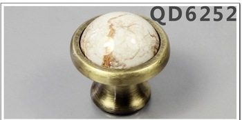 Free shipping Marbling ceramics Furniture Handles & Knobs, drawer handle  5pcs/lot ,two sizes