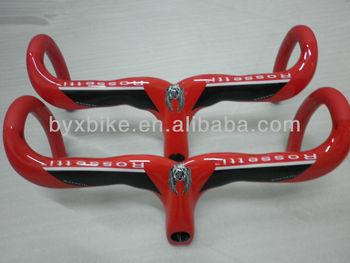 free shipping! road bike carbon handlebar & 3k weave, rossetti, glossy /matte, 380g+/-15g. red/ white/black