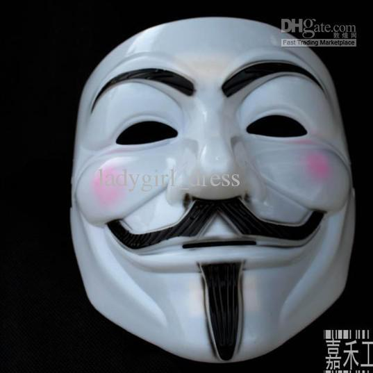 Free Shipping Hot Sale Vendetta Anonymous Movie Adult Guy Hot Halloween Cosplay Cool Costume Mask(China (Mainland))