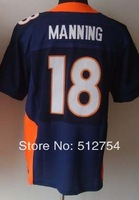 Free Shipping #18 Peyton Manning Men's Elite Football Jersey,Embroidery and Sewing Logos,Size M--3XL ,Accept Mix Order