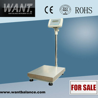 100kg 1g Floor Scale Digital Weighing Balance With 4 Wheels WT1003L