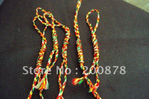 HDC0663 Tibetan handmade lucky Kingkong Knots,5-colors thread amulets,50pcs lot(China (Mainland))