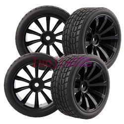 4PCS RC 1:10 On Road Model Car Rubber Foam Tires Tyres & Wheel Rim 601-8005(China (Mainland))