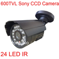 Outdoor 600TVL CCTV 1/3&quot; SONY CCD 24 IR Waterproof Video Security Camera