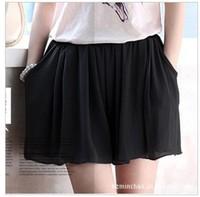Free shiping 11 Colors Summer chiffon culottes Korean version loose shorts