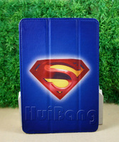 3 in 1  superman  design   Leather Smart  Cover Case for Ipad mini