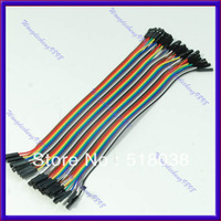 Free shipping 40pcs 20cm 1p-1p female to Female jumper wire Dupont cable for Arduino Breadboard