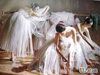 Canvas Prints by Chinese artists printed ballet oil painting giclee prints for bedroom  10-rw-1 (2)