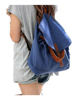top seller! Spring and summer female bags 2013 canvas casual backpack bag blue