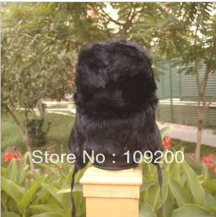 Free Shipping Retail Rabbit Lady Black Fashion Korean style Men Cap(China (Mainland))