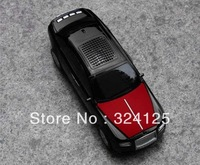 Free shipping 5pcs Mini Portable Music Car LED light Speaker Support FM Radio MP3 Player TF Card Reader music car speaker
