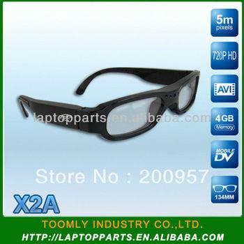 2013 Newest Design 5MP 720P HD AVI 4GB Video Camera Sunglasses X2A ---- Free Shipping