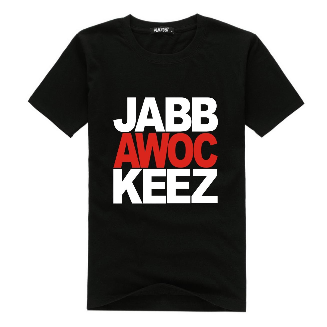 Hiphop hip- hop T -shirt Playidea 100% camisa de algodão de manga curta masculina jabbawockeez(China (Mainland))