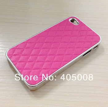 2013 min order is 1pcs  Luxury Sheep Skin Leather Back Case Cover for Iphone 4 4S 4G  Free Shipping