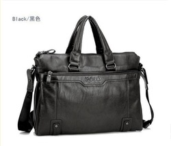 Recommend new products 2013 leather briefcase, leather laptop bags for men, men 's big size shoulder bags, business briefcase(China (Mainland))