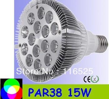 PAR38 15W E27 base Led Spotlight Bulbs Led Lamp free delivery high quality factory price 85-265V 50pcs /lot