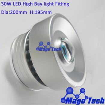 DHL/FEDEX /EMS Free shipping- DIY  30W LED High Bay Light housing  with extrusion aluminium profile  heatsink, aluminum PCB base