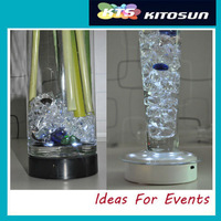 """LED light Stand Event Party Decoration 4"""" Light Base Wedding Centerpiece Vase Floral Decoration 3AA  battery Operated"""