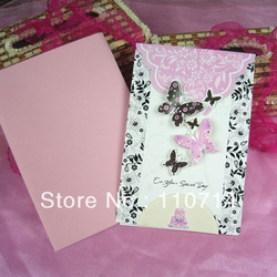 2013 new desgin 3D greeting card birthday card with envelope handmade card mix patterns(China (Mainland))
