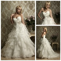 Free Shipping Ball Gown Organza Wedding Dress 2011 Crystal