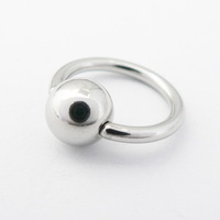 Fashion accessories exquisite titanium umbilical ring milk ring 2mm big