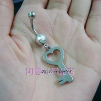 Puncture accessories full steel medical umbilical ring umbilical nail buckle key navel ring umbilical ring umbilical nail