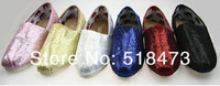2013 spring flash sequins soft bottom canvas shoes casual shoes for women's shoes (10pair/lot) Free shipping