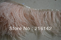 Free Shipping- ostrich feather trimming fringe on Satin Header 5-6inch(12-15cm) in width for decoration