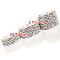 The bride accessories full rhinestone single row bracelet row bracelet elastic bracelet sparkling rhinestone bracelet