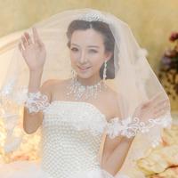 Design long bride veil bridal veil quality lace decoration wedding accessories decoration veil 30