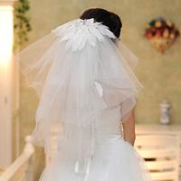Bride feather decoration bridal veil the bride wedding dress veil wedding dress style 7