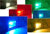 Wholesale 10W 16 Color RGB Flash LED Flood light Wash Lighting Lamp Outdoor Floodlight 85V-265V by Express 5pcs/lot