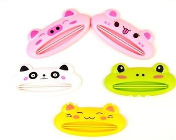 20pcs/lot Cartoon Animal Toothpaste Squeezer Tube Dispenser Dentifrice Cream Extruder Free Shipping
