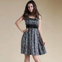 2013 spring women one-piece dress silk high waist sleeveless ol elegant formal fashion tank dress
