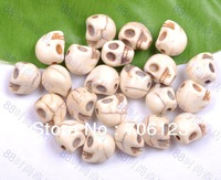 Multicolor Turquoise Carved Skull Beads 10*12mm loose DIY material bead Free shipping 300Pcs
