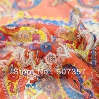 Wholesale 100% silk silk chiffon fabric / SILK scarf / dress fabric 00452