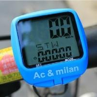 free shipping AC & milan B-SQUARE bike computer away speedometer table waterproof luminous stampede frequency