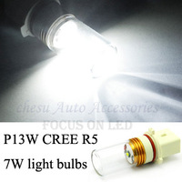 Car Bulbs P13W CREE R5 7W High Power Auto LED fog light  Lamps White color to chose in free shipping