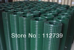 Welded Wire Mesh Dark Green Color in Rolls(China (Mainland))