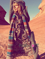 2013 autumn and winter national trend yarn scarf ultra long vintage bohemia cape female
