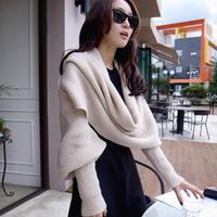 2012 muffler scarf thermal yarn multifunctional ultra long scarf cape lovers design