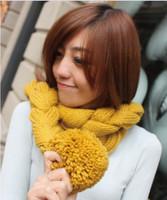 2013 autumn and winter yarn tails ball scarf muffler scarf fur cape female