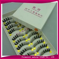 Taiwan handmade false eyelashes thick end of eye elongated transparent stems paragraph fake eyelashes A2 - Free shipping